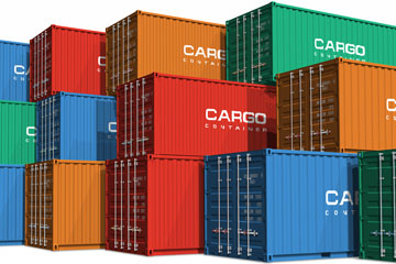 colorful freight cargo containers